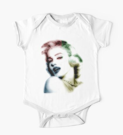 marilyn monroe, colored One Piece - Short Sleeve
