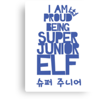 Super Junior ELF Canvas Print