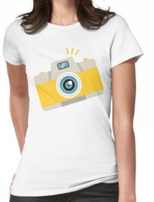 Yellow Camera, Retro Camera, Vintage Camera #stickers Womens Fitted T-Shirt