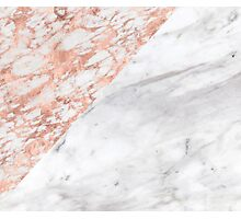 Massarosa Marchionne Bianco rose gold marble Photographic Print