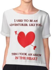 Nerd Valentine - Arrow in the heart Chiffon Top