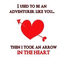 Nerd Valentine - Arrow in the heart Photographic Print