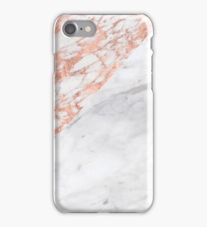 Massarosa Marchionne Bianco rose gold marble iPhone Case/Skin