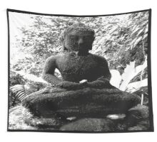BUDDHA KNOWS NOTHING IN LIFE IS BLACK AND WHITE Wall Tapestry