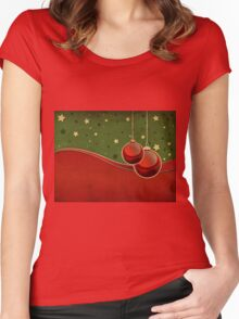 Vintage Christmas background Women's Fitted Scoop T-Shirt
