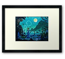 'Blowing Smoke on the Turquoise Coast'  Framed Print