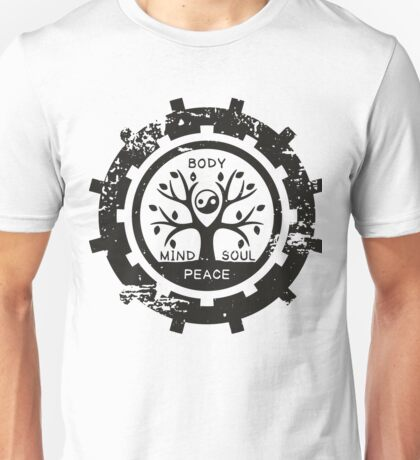 Mind Body Soul Peace Unisex T-Shirt