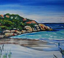 Wharton Beach - Esperance by Jen  Biscoe