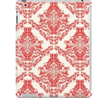 Classic Red & White Damask Pattern iPad Case/Skin