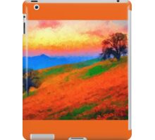 hills landscape trees sunset sunrise iPad Case/Skin