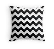 Black & White Chevron Pattern Throw Pillow