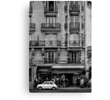 White Car in Paris Canvas Print