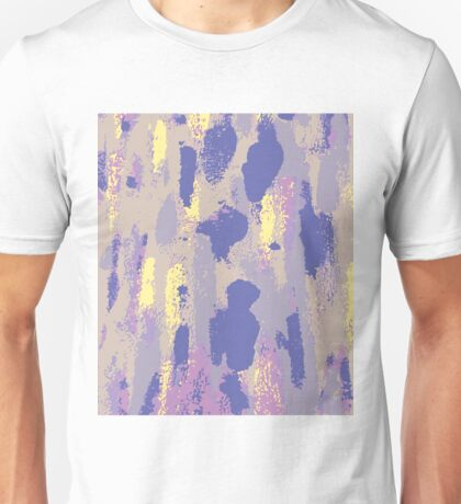 Abstract Paint Strokes & Splatters Print Unisex T-Shirt