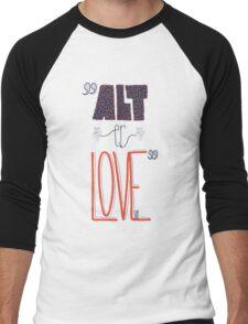 SKAM - Alt er love (Typography) Men's Baseball ¾ T-Shirt