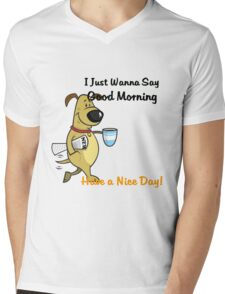 coffe morning Mens V-Neck T-Shirt