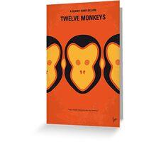 No355 My 12 MONKEYS minimal movie poster Greeting Card