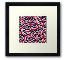Union Jack Flag Classic United Kingdom Pattern Framed Print