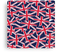Union Jack Flag Classic United Kingdom Pattern Canvas Print