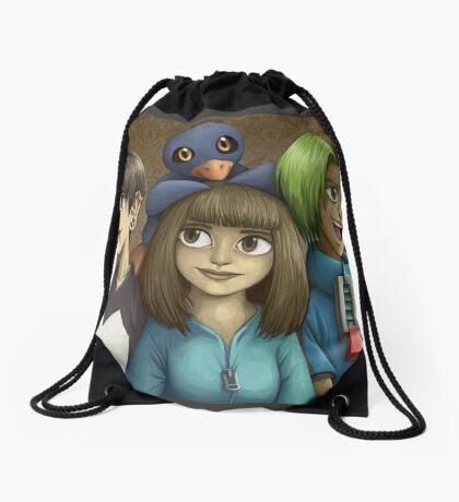 family portrait Drawstring Bag