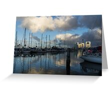 Spectacular Storm Light - Tropical Skies Over Ala Wai Harbor in Honolulu, Hawaii Greeting Card