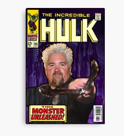 Guy Fieri/ Hulk Mash Up Canvas Print