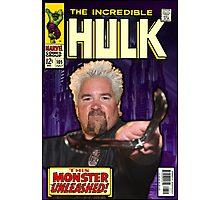 Guy Fieri/ Hulk Mash Up Photographic Print