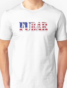 FUBAR - USA flag, black outline. Unisex T-Shirt