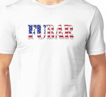 FUBAR - USA flag, black outline. Unisex T-Shirt