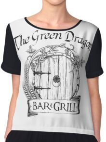 The Hobbit Green Dragon Bar & Grill Shirt T-Shirt Chiffon Top