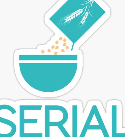 Serial Cereal Entrepreneur Funny Typography Text Sticker