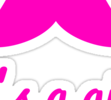 it's a girl text with pink mustache for baby shower Sticker