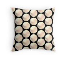white crystal ball array pattern Throw Pillow