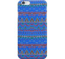 tribal pattern arrow and triangle blue iPhone Case/Skin