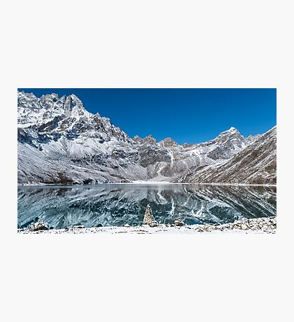 Mountain reflexion in cristal clear lake  Photographic Print
