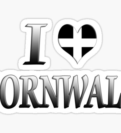 I Love Cornwall Sticker