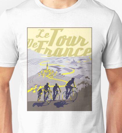 TOUR DE FRANCE; Vintage Bicycle Racing Print Unisex T-Shirt