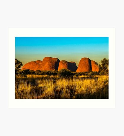 Sunset at The Olgas Art Print