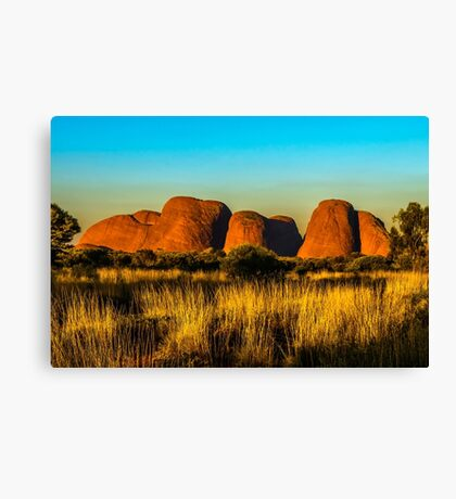 Sunset at The Olgas Canvas Print