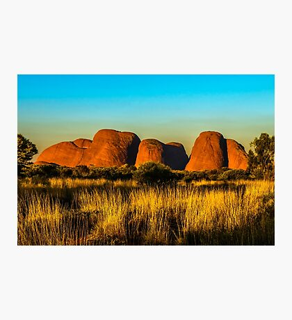 Sunset at The Olgas Photographic Print