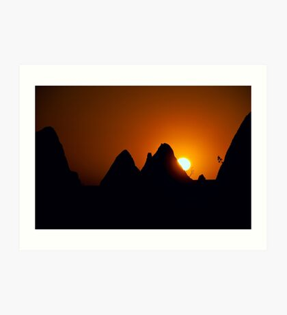 Pinnacles Sunset Art Print