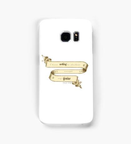 Oscar Wilde Quote- I have Nothing to Declare Except my Genius Samsung Galaxy Case/Skin