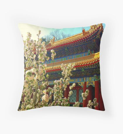 Beijing Summer Palace in bloom Throw Pillow