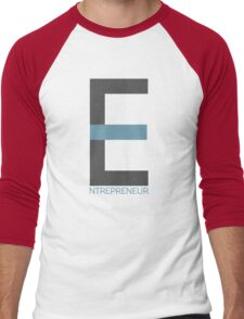 Entrepreneur Business Typography Design Text Men's Baseball ¾ T-Shirt