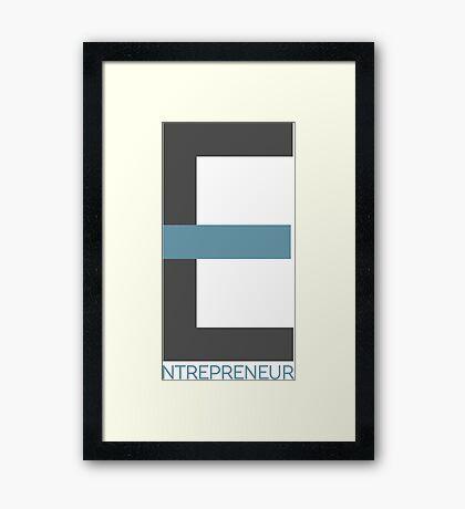 Entrepreneur Business Typography Design Text Framed Print