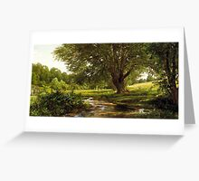 William Trost Richards - Glade at Oldmixon, Chester County, Pennsylvania Greeting Card