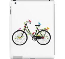 Old vintage bicycle with flowers and birds iPad Case/Skin