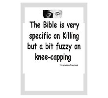 The Rev Book Killing / Knee-capping Photographic Print