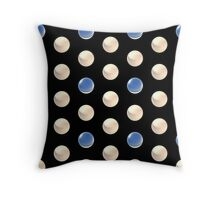 smaller white and blue crystal ball array pattern Throw Pillow