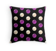 smaller pink and white crystal ball array pattern Throw Pillow