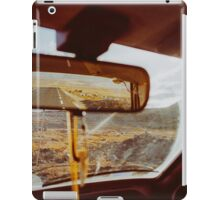 Driving in Rural Scandinavia - Closeup of Wild Landscape in Car iPad Case/Skin